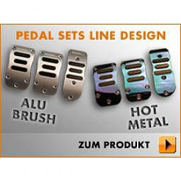FOLIATEC PEDAL Set LINE Design - Alu b..
