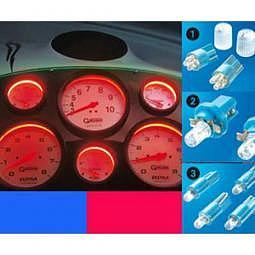 FOLIA TEC LED Light Cockpit, T10, blau