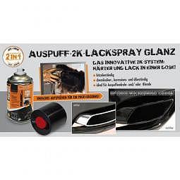 AUSPUFF-2K-LACKSPRAY GLANZ - schwarz, 250 ml