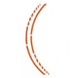 FOLIATEC Cardesign Sticker - PIN STRIPING FELGENDESIGN, orange